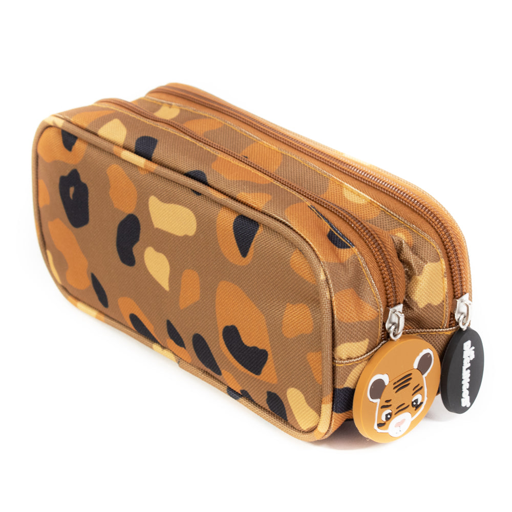 2 Zip / Double Compartment Pencil Case Speculos the Tiger