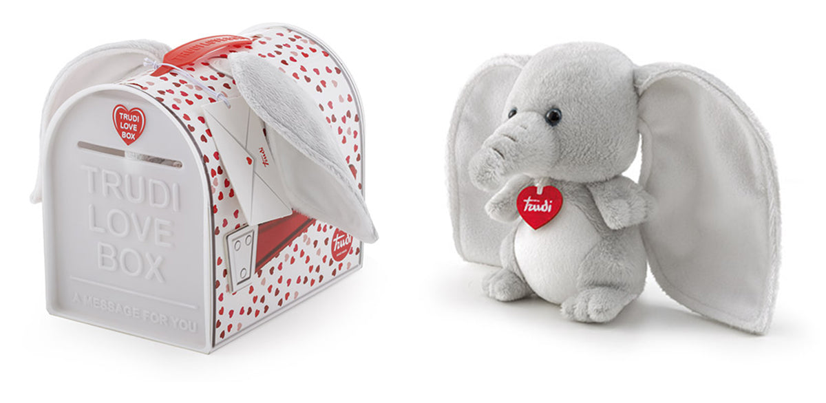 Love Box - Trudino Elephant Plush - 15cm
