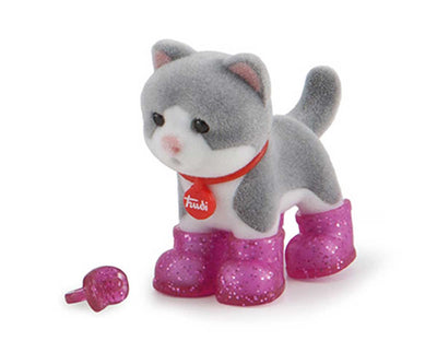 Glitter Baby Cat White/Black Tabata - 2cm