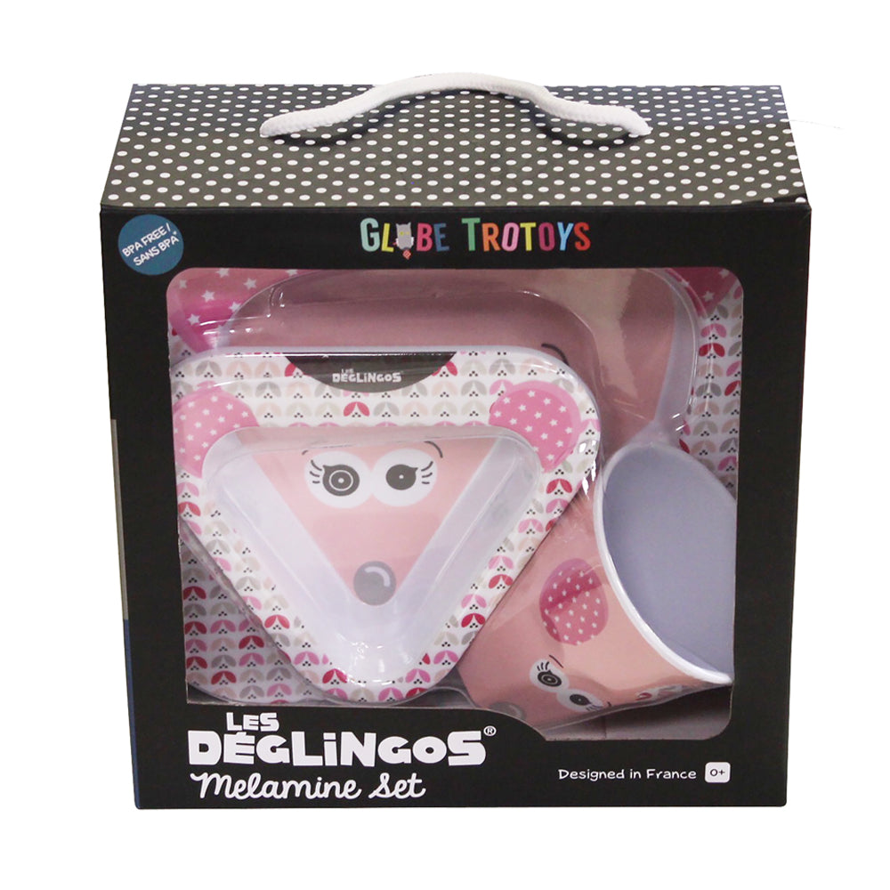 Melamine Set Coquelicos the Mouse
