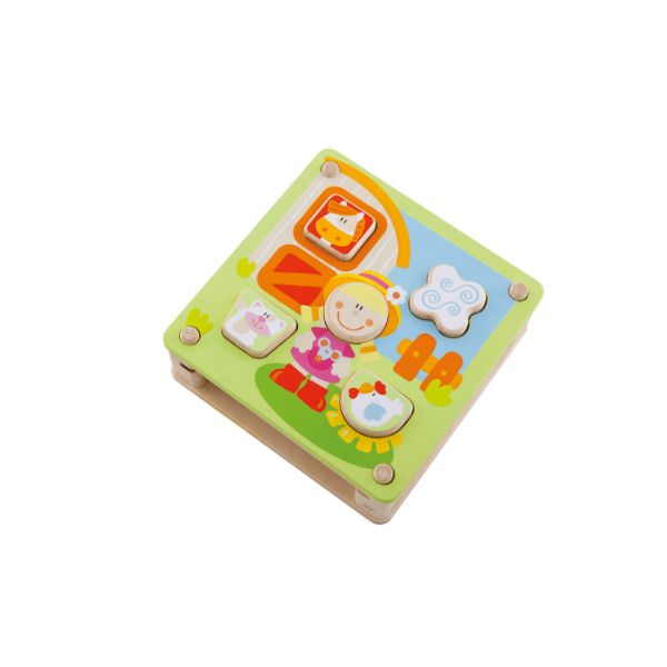 Sevi Wooden Sorting Puzzle Game Farm