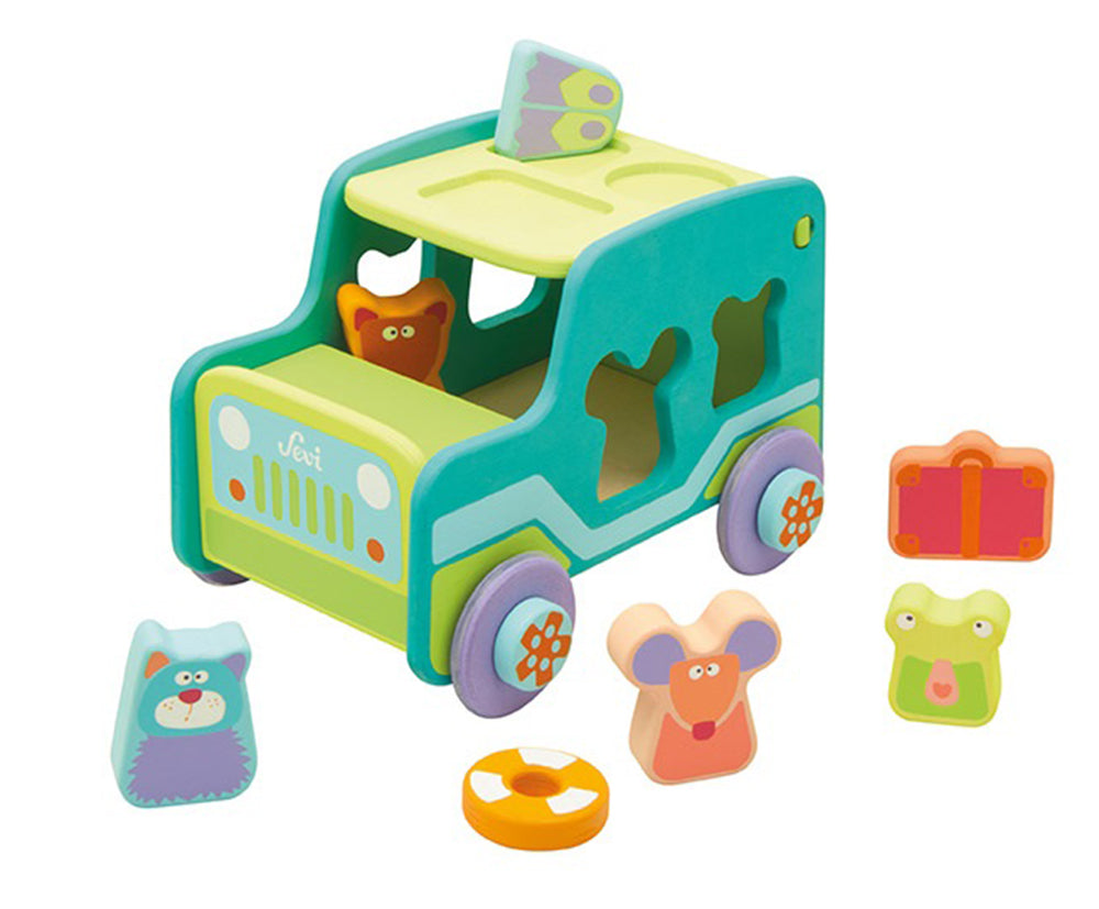 Sevi Wooden Sorting Jeep