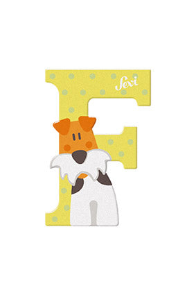 Sevi Letter F Fox Terrier