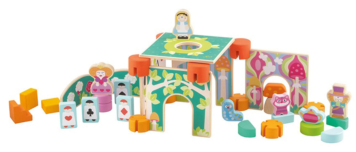 "Sevi Wooden Construction Set ""Sevi Magic Land"" - 40 pieces"