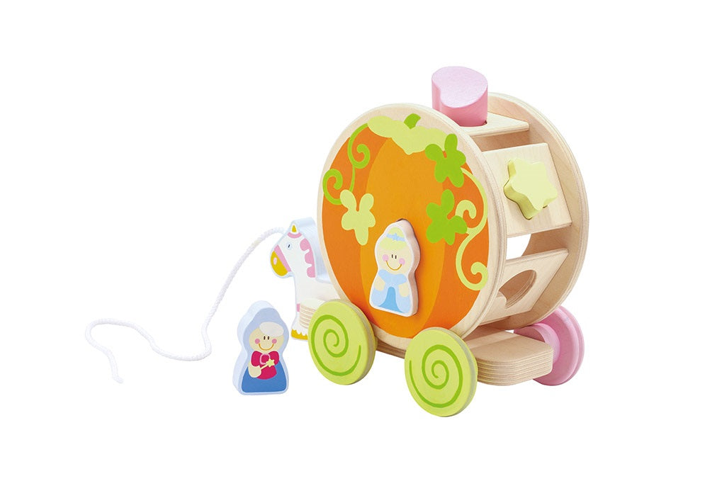 Sevi Wooden Pull Along Enchanted Carriage - 24cm