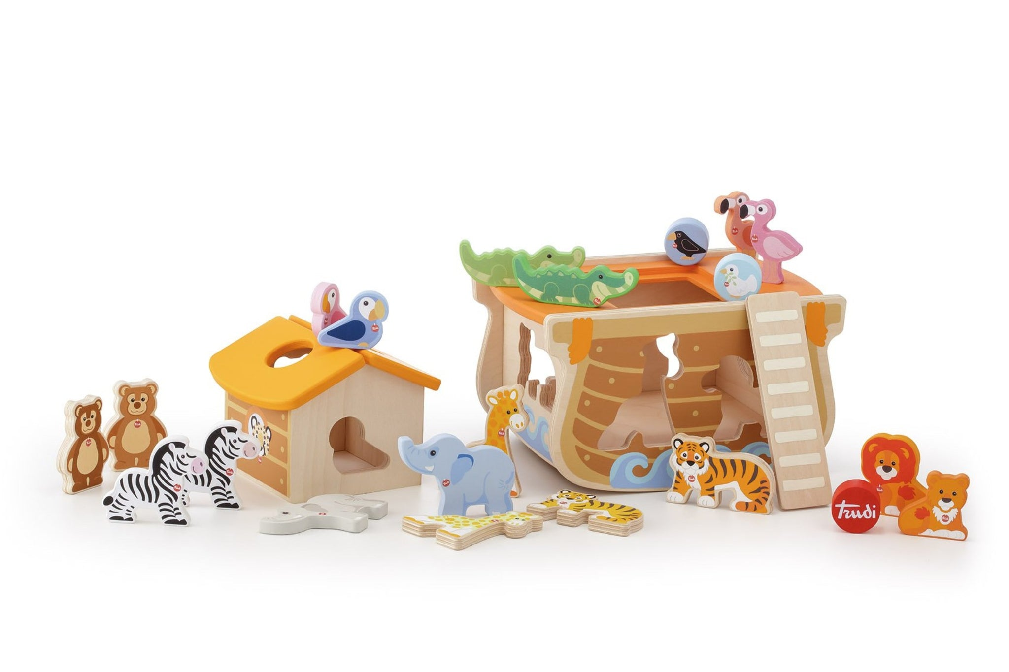 Sevi Wooden Sorting Noah's Ark Set - 24 pieces