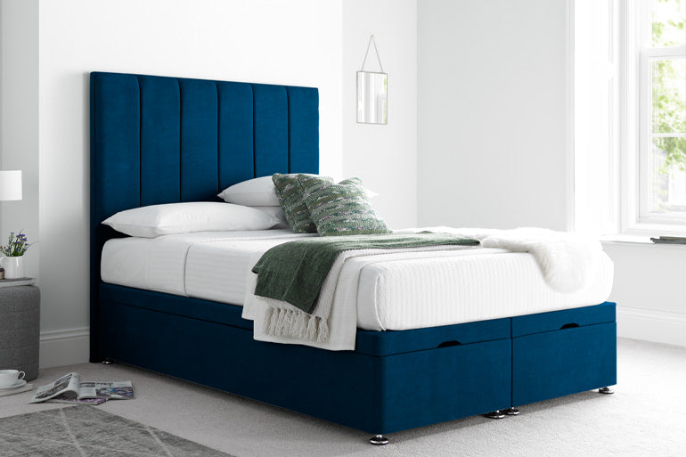 Small Double Blue Bed