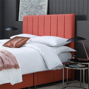 coloured fabric bed