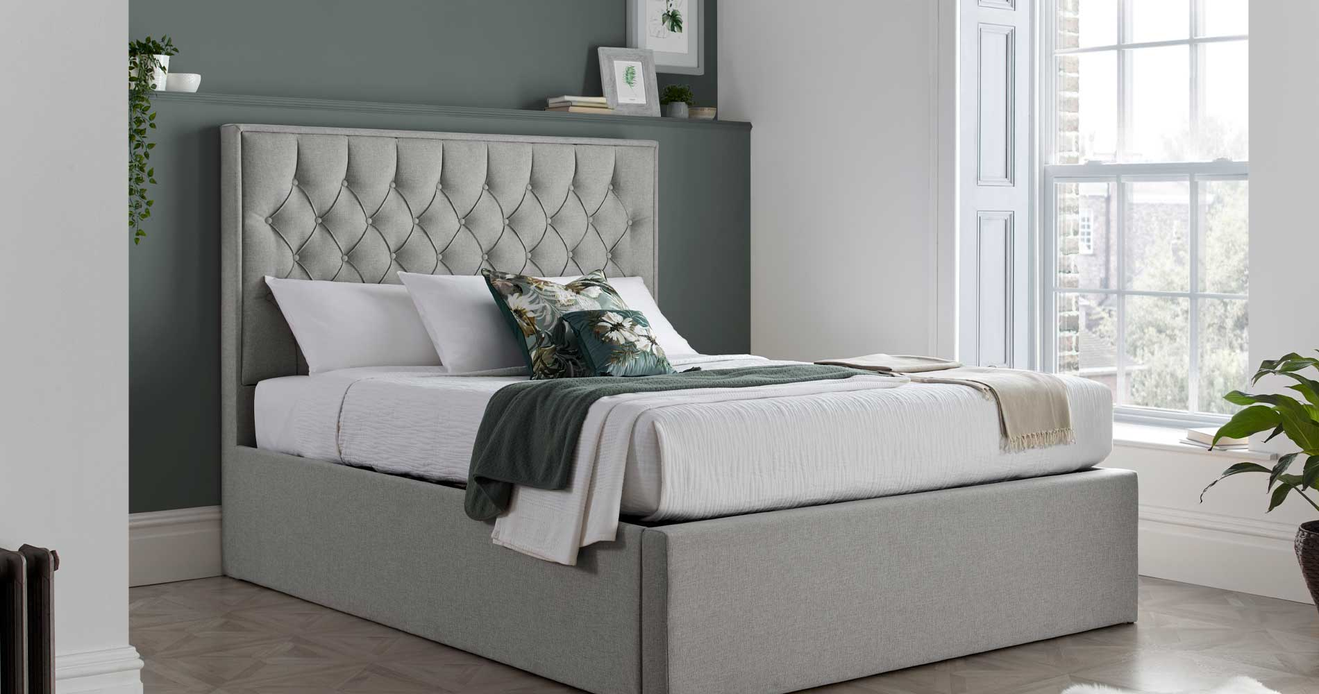 Grey Beds | Grey Fabric Beds