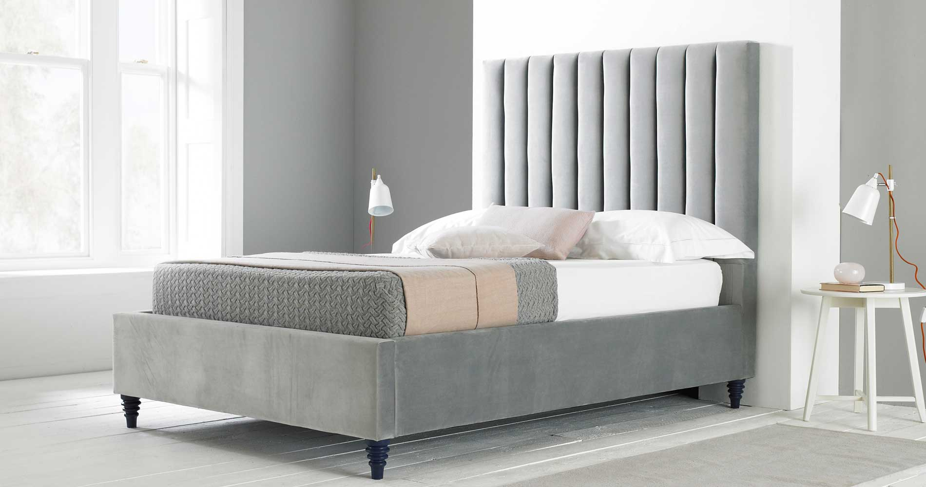 Grey Ottoman Beds