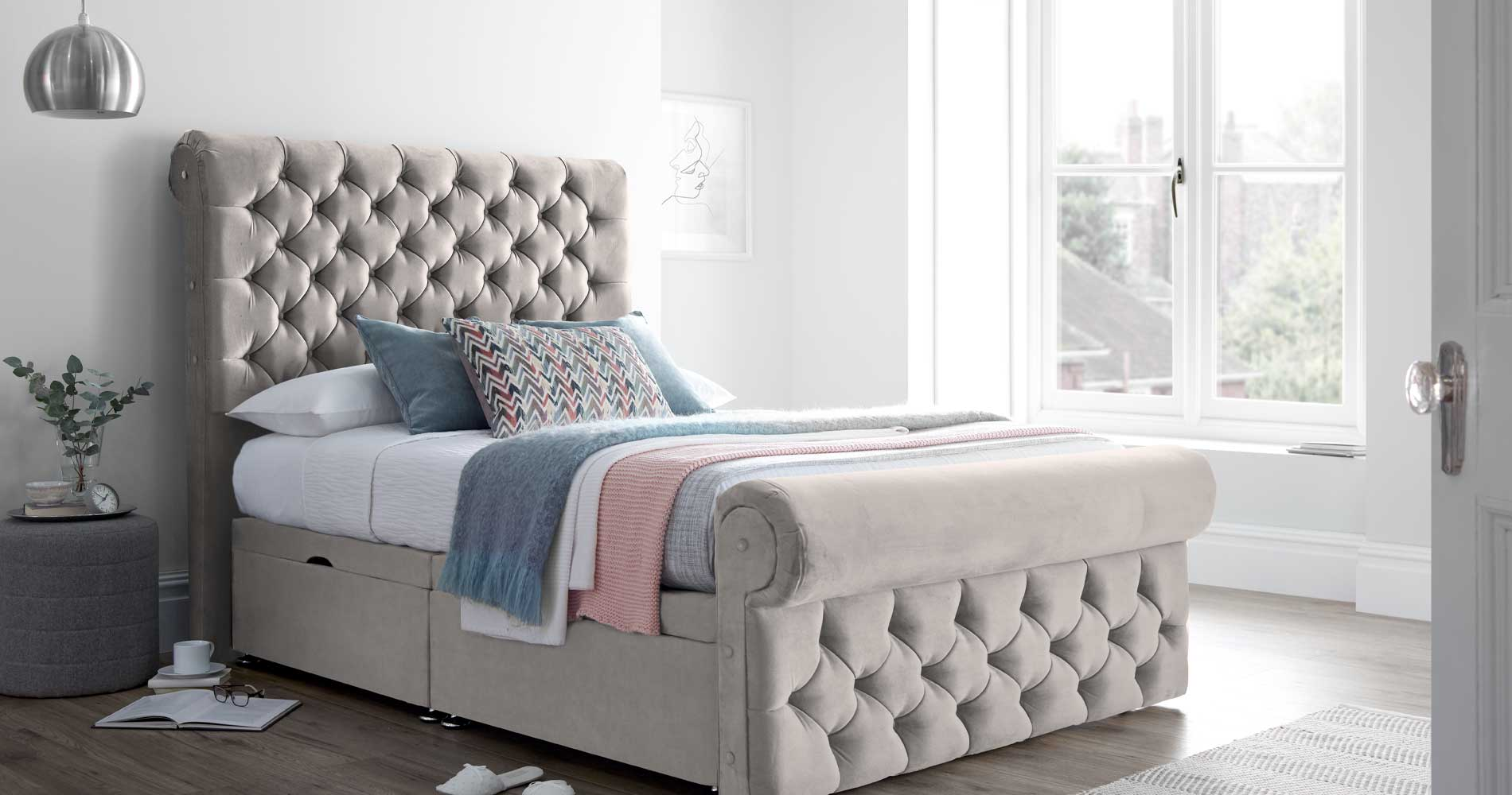 Silver Crushed Velvet | Silver Beds
