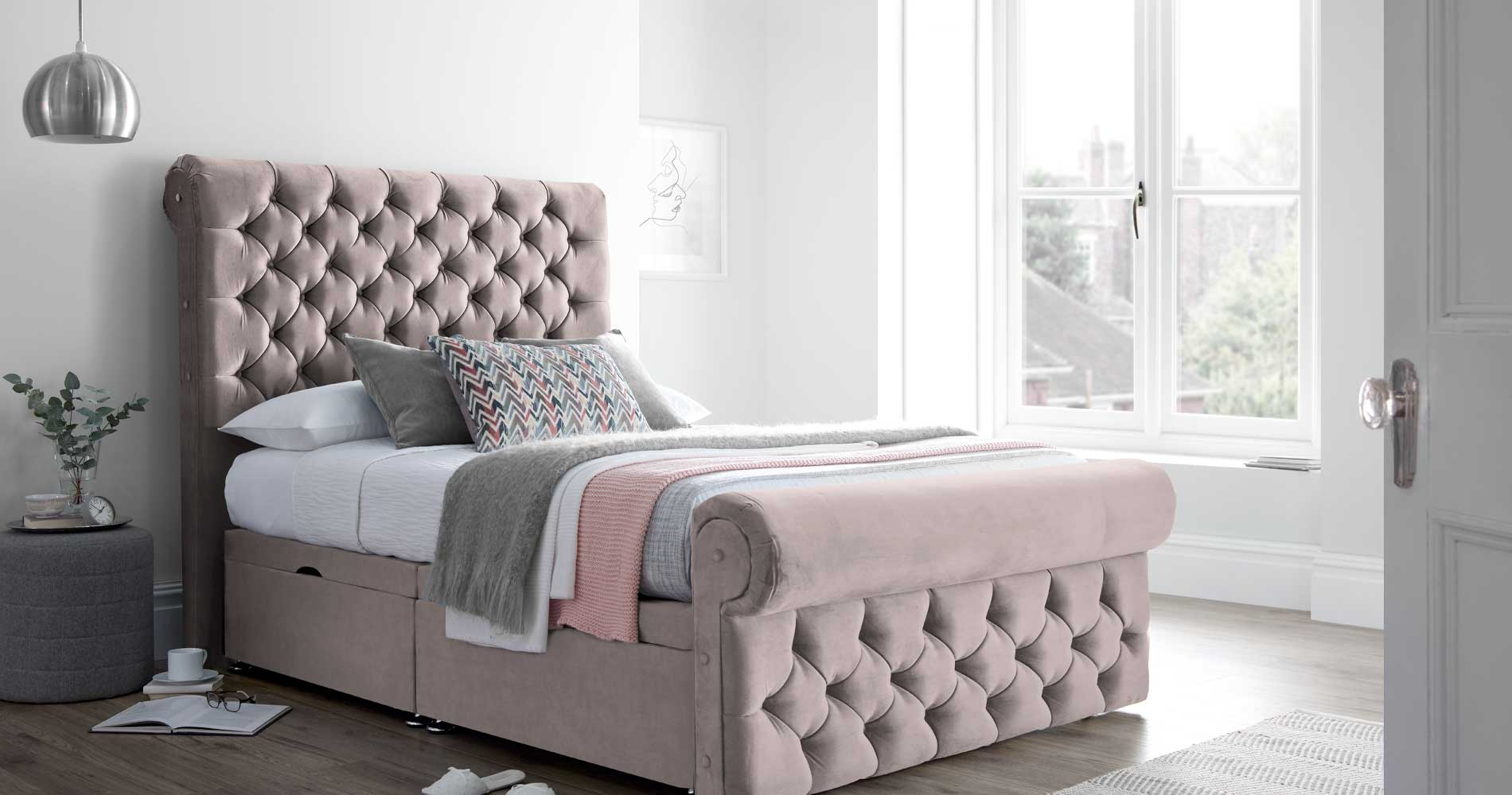 Velvet Beds | Crushed Velvet Beds