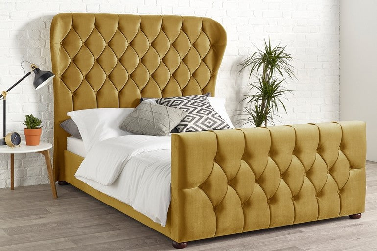 modern winged Ottoman bed