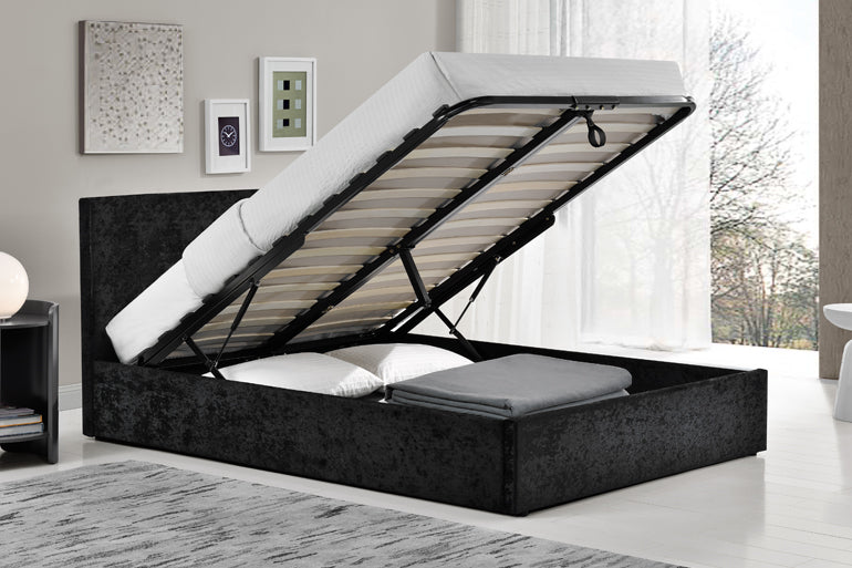 4ft Small Double Fabric Ottoman Beds