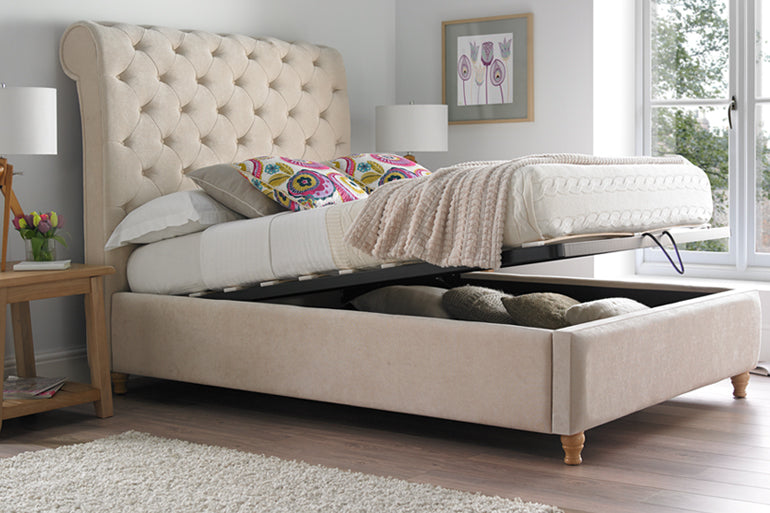 Chesterfield Low Foot Ottoman Beds