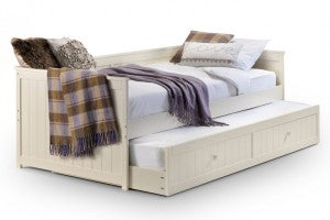White Wooden Guest Bed