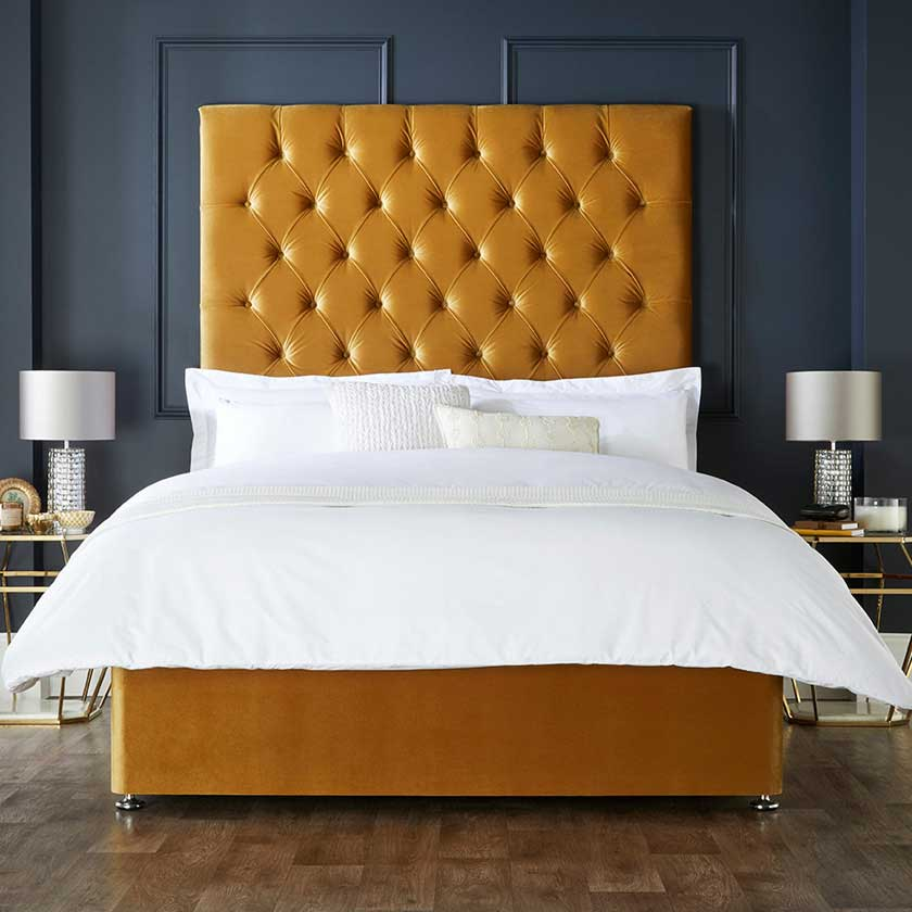 Fabric Upholstered Beds | Hotel Chic | High Headboards