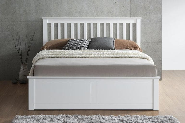 White Wooden Ottoman Beds
