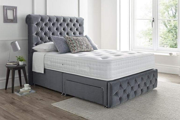 Button Ottoman Bed
