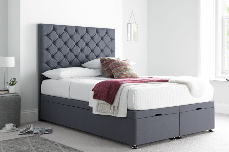 Love Sleep Button Divan / Ottoman Bed - Beds on Legs Ltd