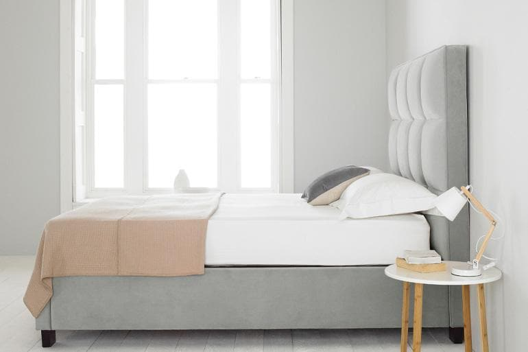 Palma Ottoman Bed in Grey - Beds on Legs Ltd