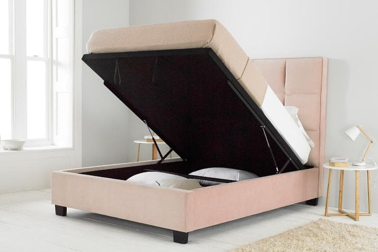Palma Ottoman Bed in Pink - Beds on Legs Ltd