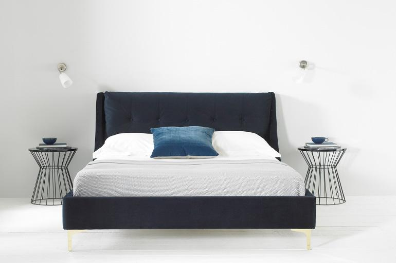Bee's Knees Sloane Bed in Navy - Beds on Legs Ltd