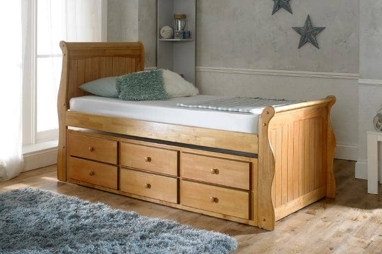 Swift Captain Sleigh Guest Bed - Beds on Legs Ltd