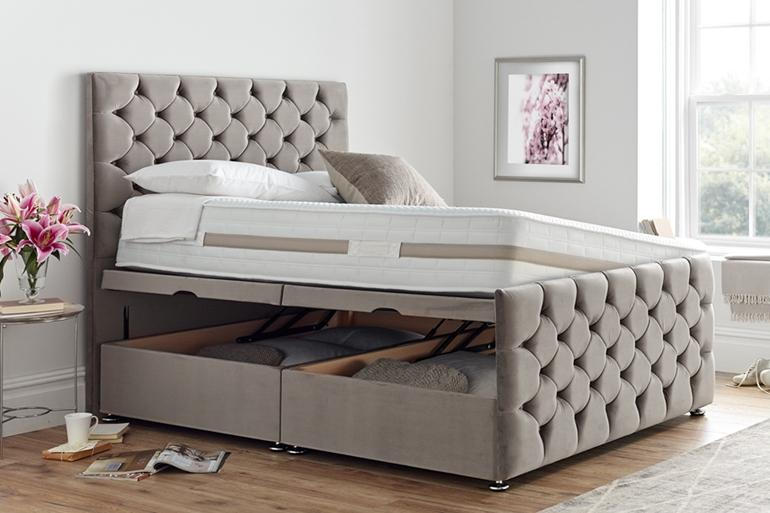 Coco Ottoman Bed with Side Lift - Beds on Legs Ltd