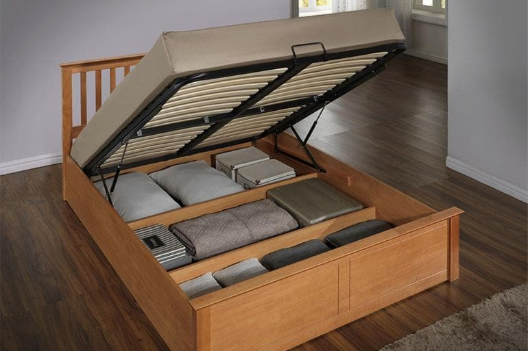 Love Sleep Wooden Ottoman Bed in Oak
