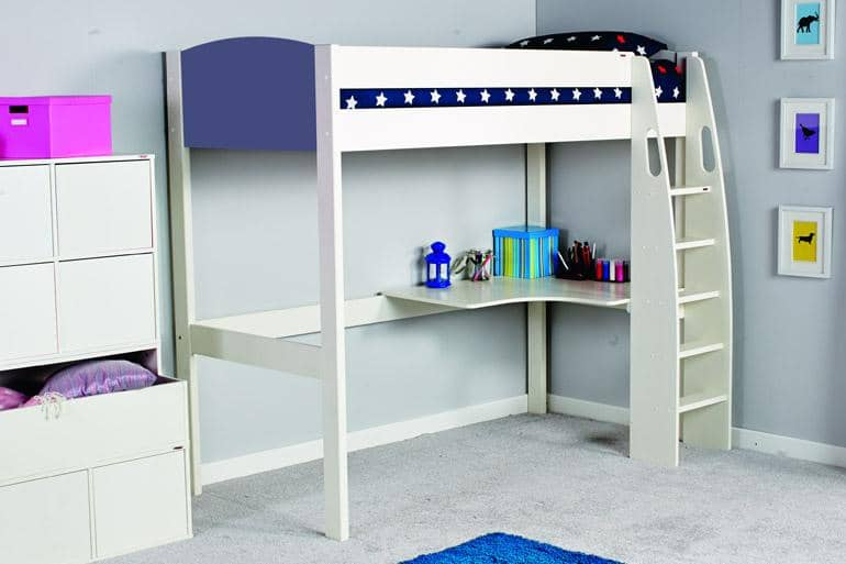 Stompa UNOS High Sleeper Frame with Desk UNOSHD - Beds on Legs Ltd