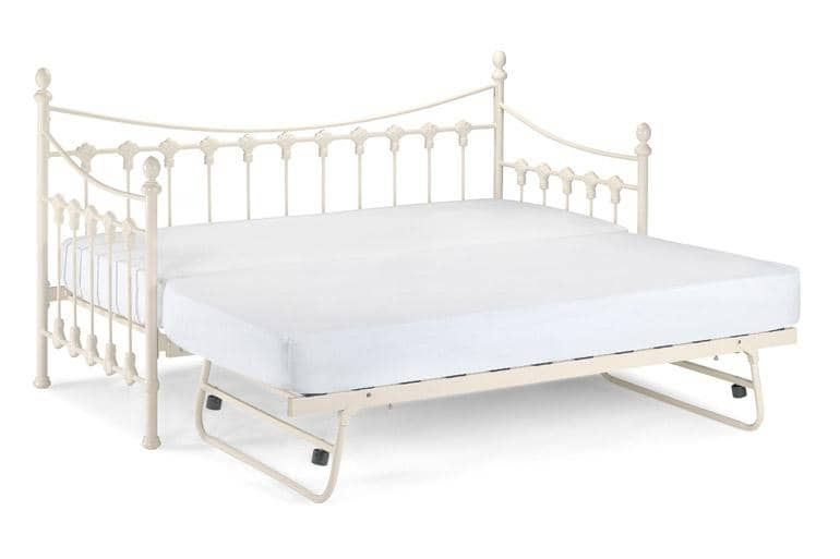 Versailles Day Bed with Trundle Guest Bed & Premium Sprung Mattress Package - Beds on Legs Ltd