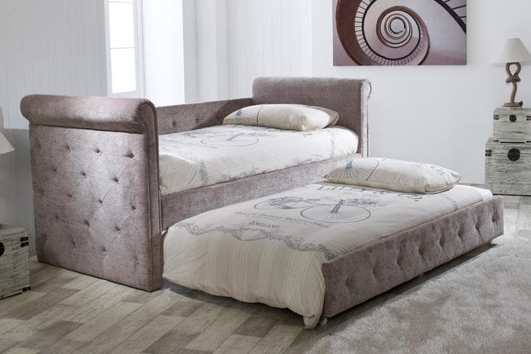 Limelight Zodiac Day Bed with Trundle Guest Bed in Mink
