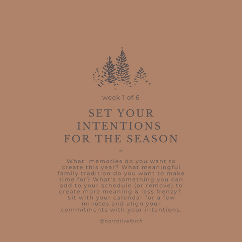 Set Your Intentions for the Season