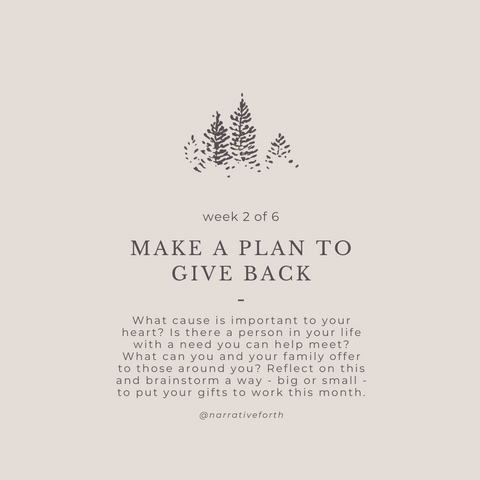Make a Plan to Give Back