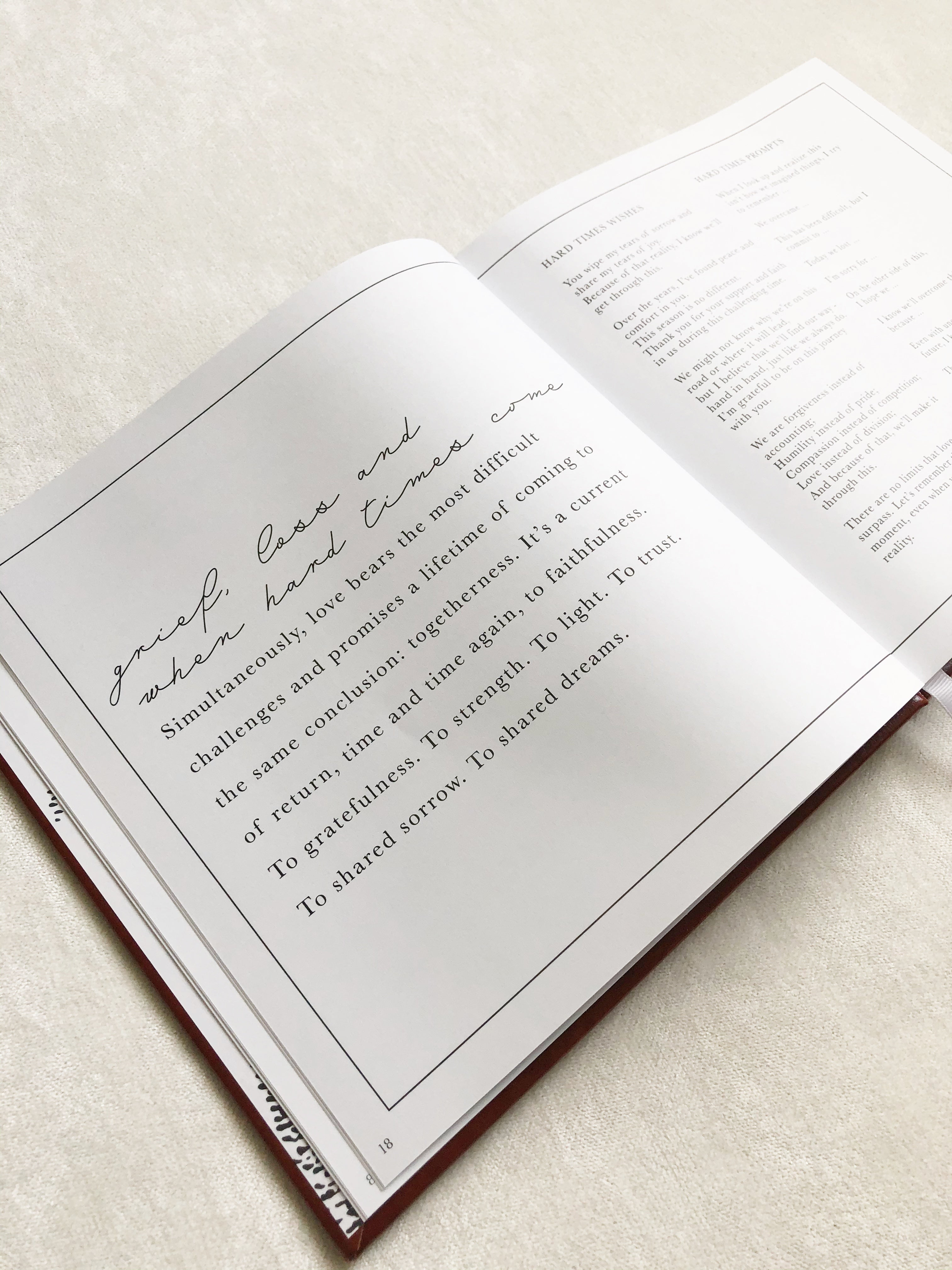 Dear Love Journal in Warm Grey