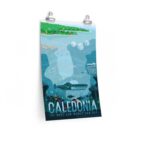 Black Ocean travel poster: Caledonia