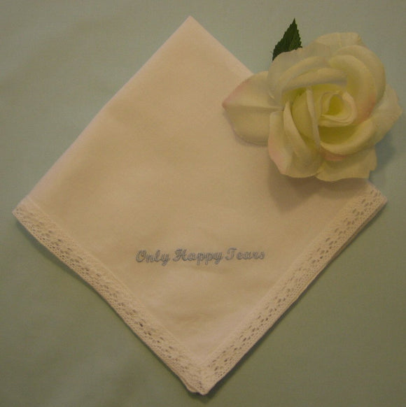 6 Only Happy Tears handkerchiefs for wedding favors. Bridesmaid favors bridal party favors 199x