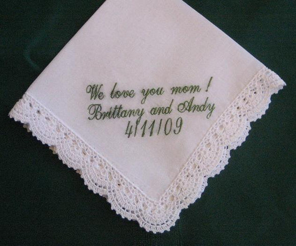Ladies Bridal Hanky. with Gift Box  34S