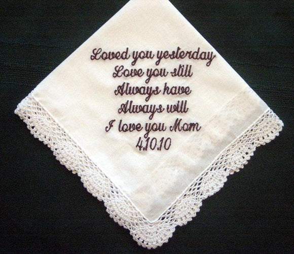 Wedding hanky perfect for any family member 26S