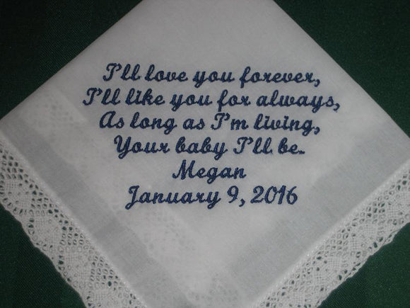 Mother of the Bride Handkerchief-Hanky-Hankie style 36S with Gift Box
