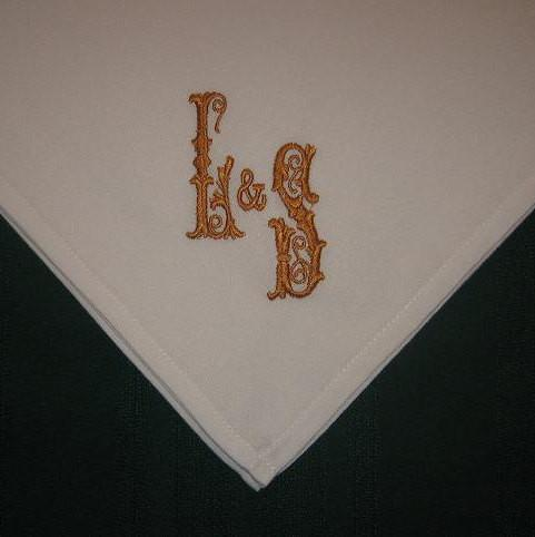 Personalized Napkins - Monogrammed dinner napkins set of 12 FREE shipping in the US.