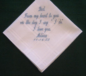 Father of the Bride 35S Personalized Wedding Handkerchief