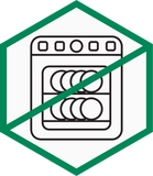 Not microwave safe caution icon