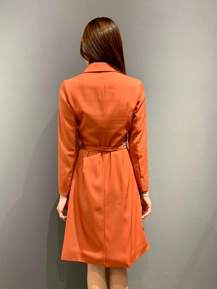 Load image into Gallery viewer, UH0541 - Terracotta Wrap Dress