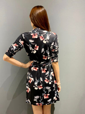 Load image into Gallery viewer, WP4821 - Dress Dark Florals Wrap