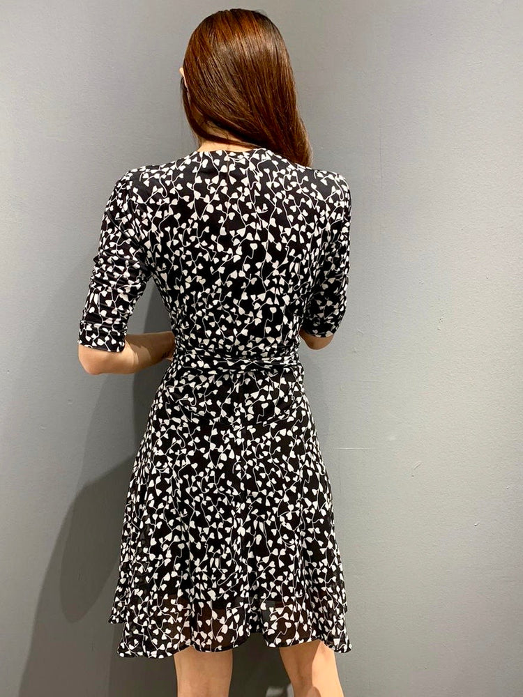 Load image into Gallery viewer, WP4843 - Monochrome Ferns Wrap Dress