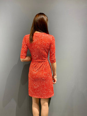 WP4831 - Dress Red Batik Dots Wrap