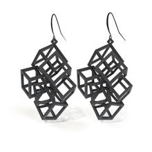 Load image into Gallery viewer, Z Cube Earrings