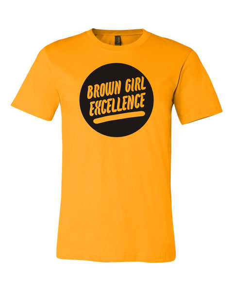 Brown Girl Excellence Gold Shirt